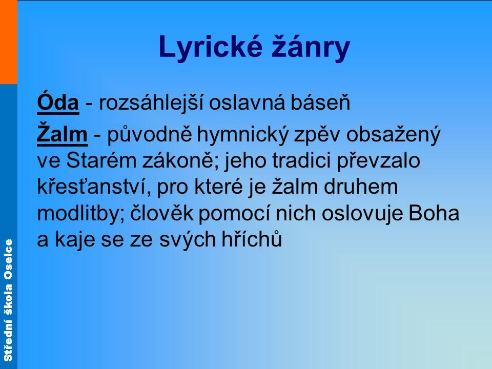 Lyrické žánry