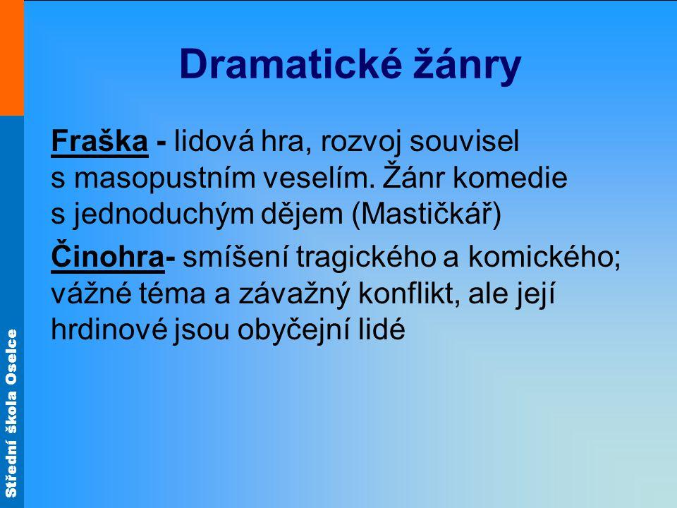 Dramatické žánry