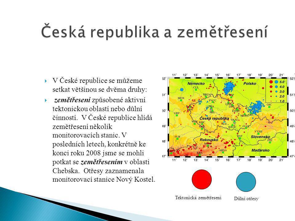 Česká republika a zemětřesení