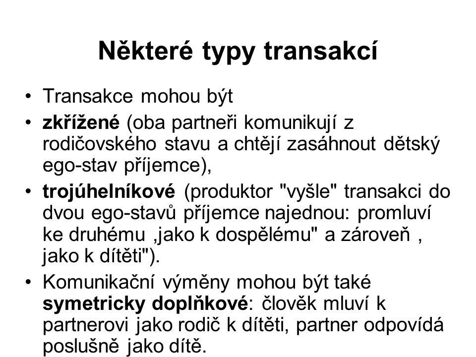 Některé typy transakcí