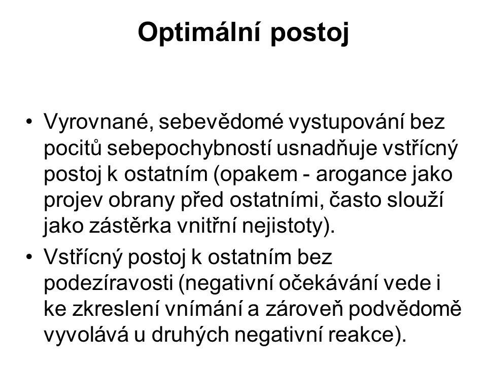 Optimální postoj