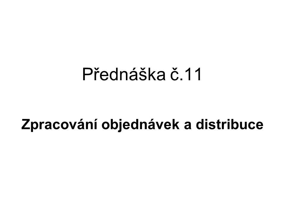 Zpracování objednávek a distribuce