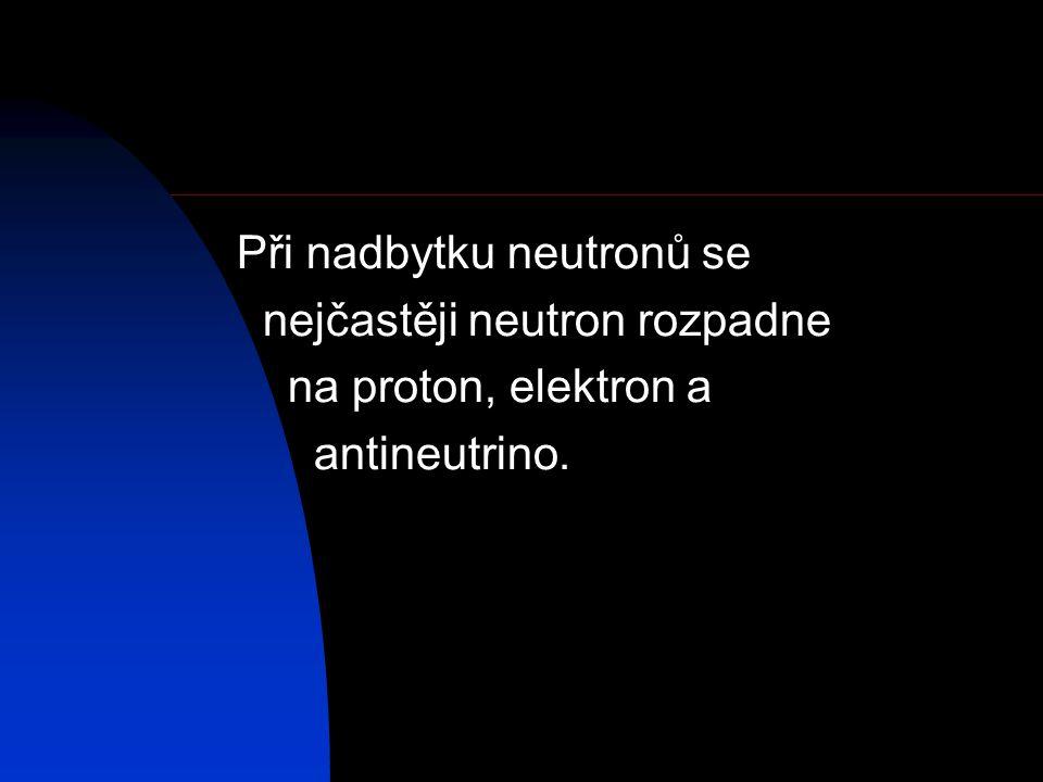 Při nadbytku neutronů se