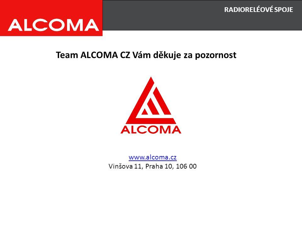 Team ALCOMA CZ Vám děkuje za pozornost