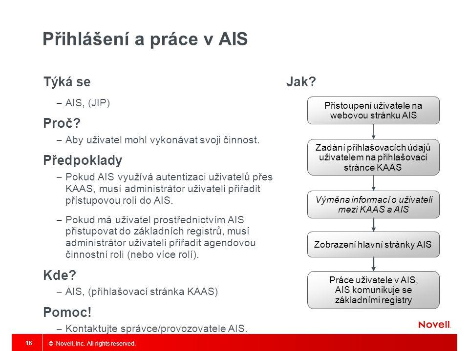 Přihlášení a práce v AIS