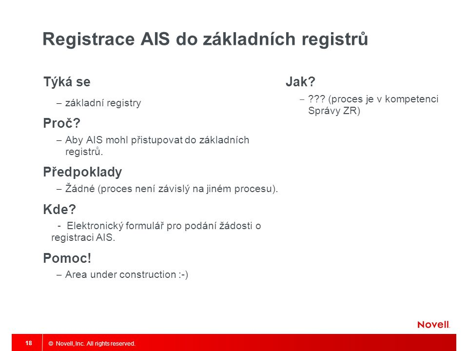 Registrace AIS do základních registrů