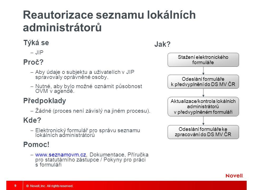 Reautorizace seznamu lokálních administrátorů