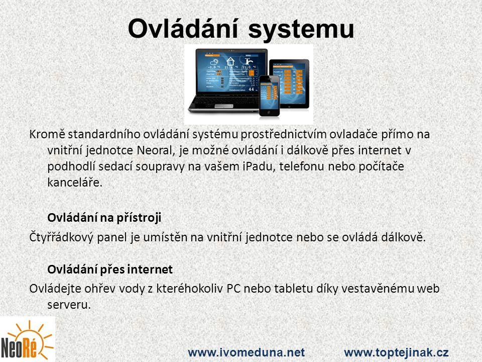 Ovládání systemu