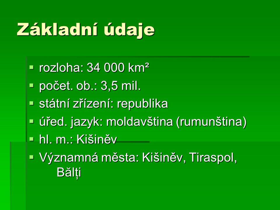 Základní údaje rozloha: 34 000 km² počet. ob.: 3,5 mil.