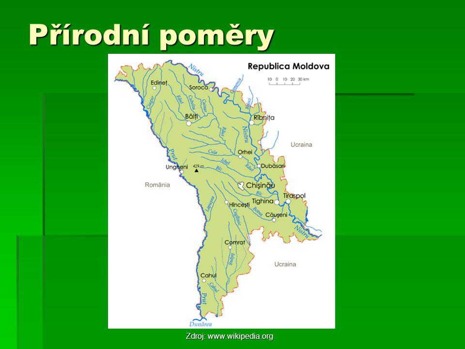 Přírodní poměry Zdroj: www.wikipedia.org