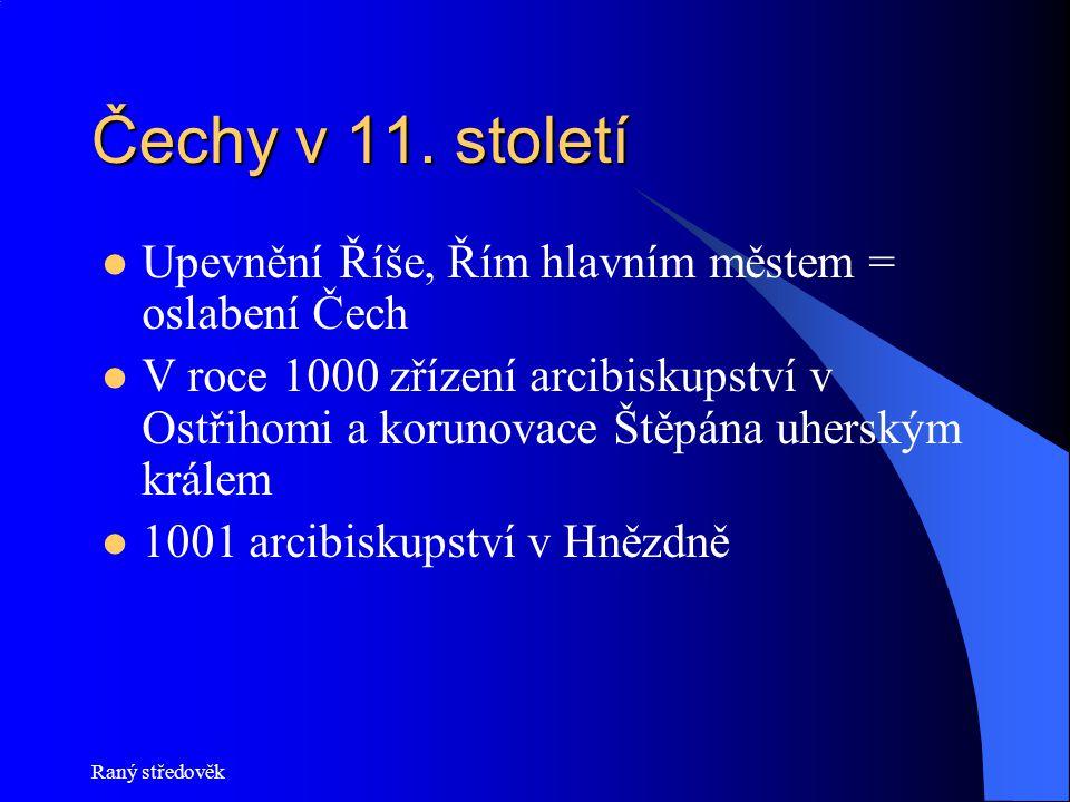 Čechy v 11. století Upevnění Říše, Řím hlavním městem = oslabení Čech