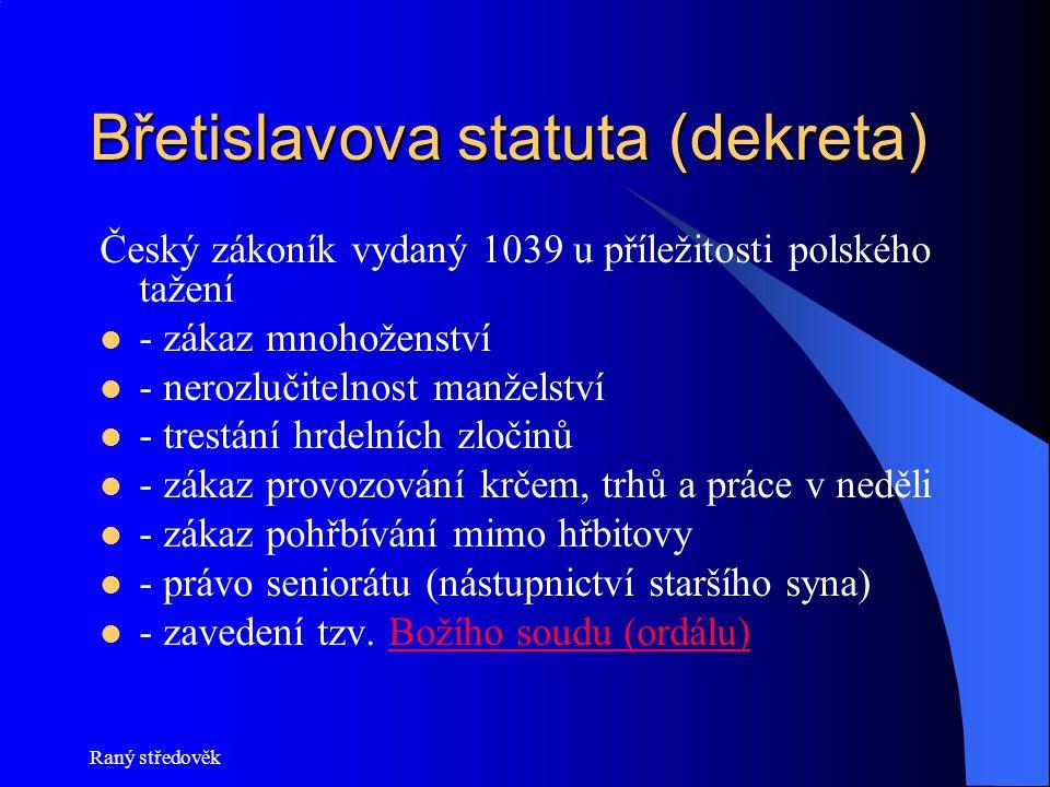 Břetislavova statuta (dekreta)