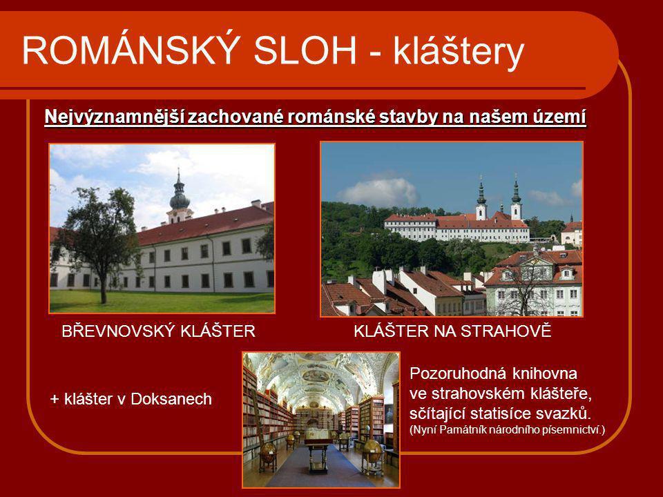ROMÁNSKÝ SLOH - kláštery