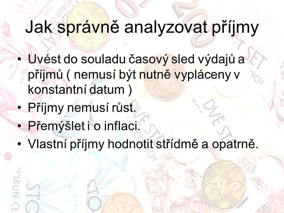 Jak správně analyzovat příjmy