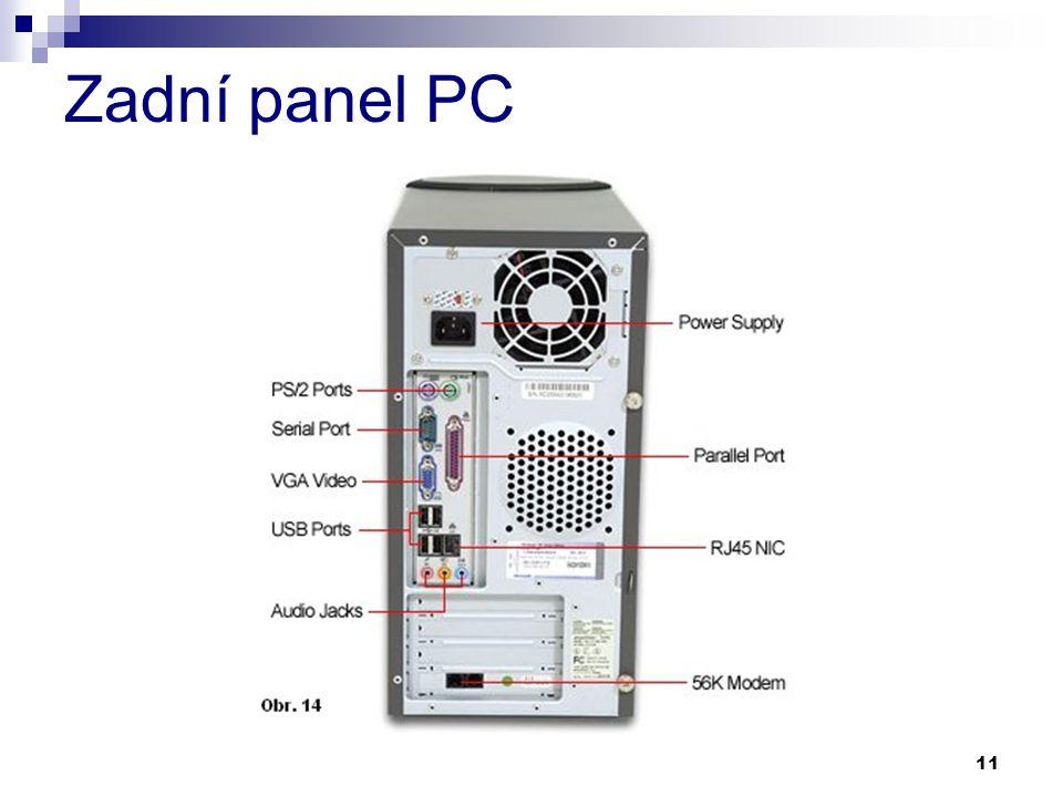 Zadní panel PC
