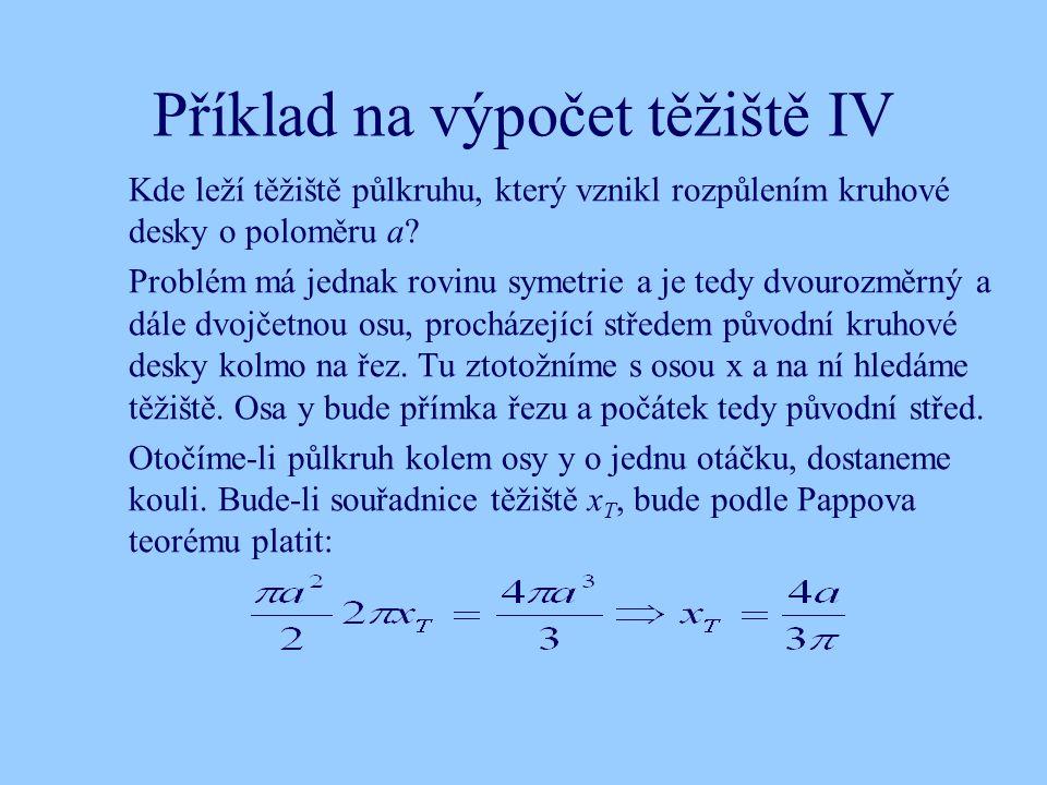 Příklad na výpočet těžiště IV