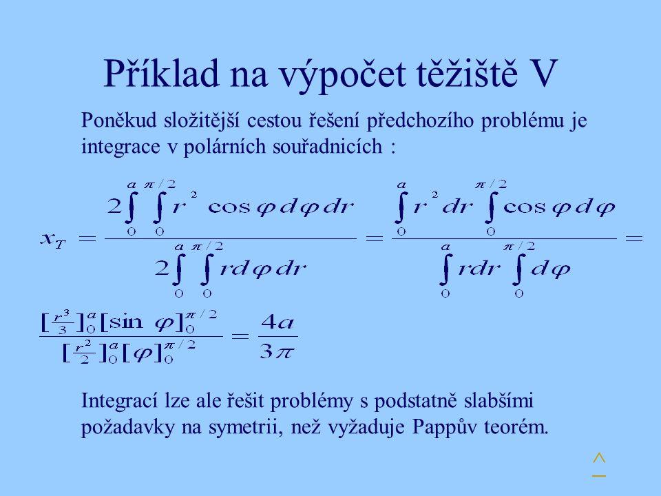 Příklad na výpočet těžiště V