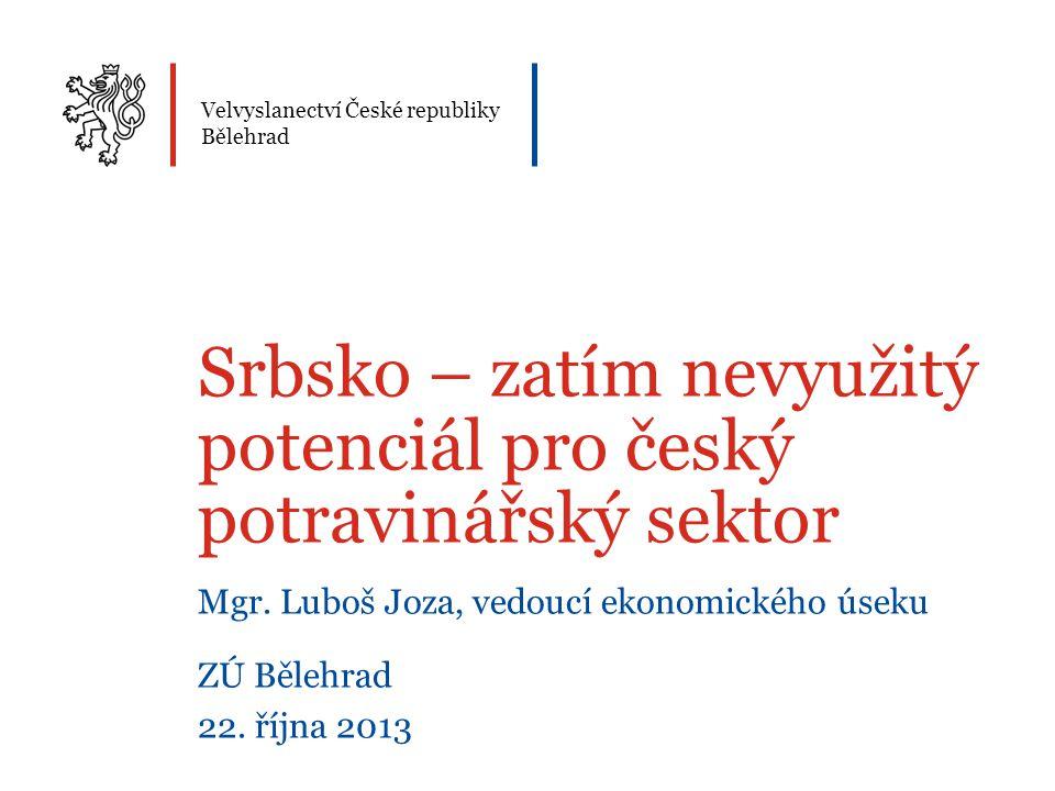 Srbsko – zatím nevyužitý potenciál pro český potravinářský sektor