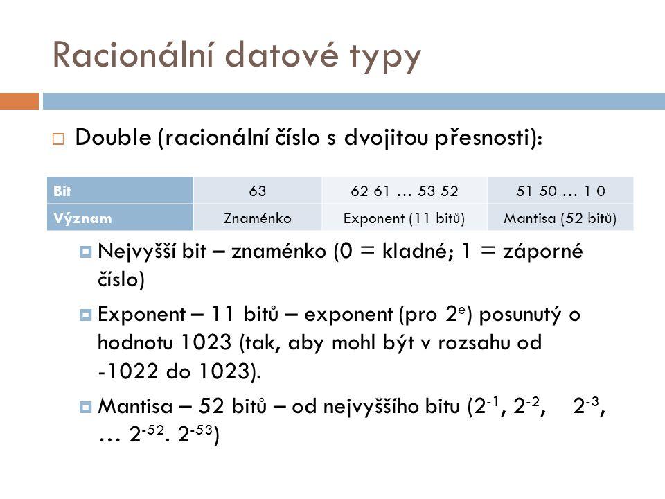 Racionální datové typy