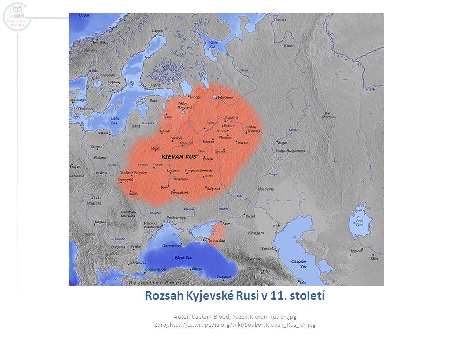 Rozsah Kyjevské Rusi v 11. století