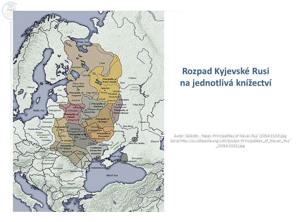 Rozpad Kyjevské Rusi na jednotlivá knížectví