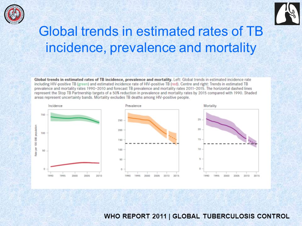 Global trends in estimated rates of TB incidence, prevalence and mortality