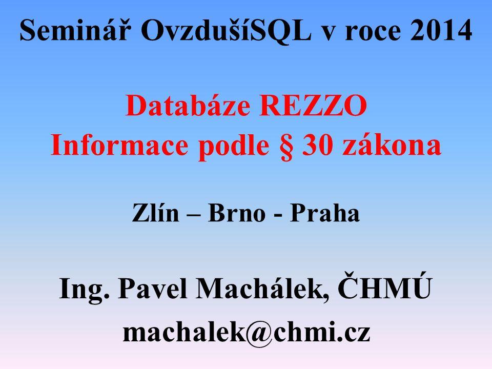 Ing. Pavel Machálek, ČHMÚ machalek@chmi.cz
