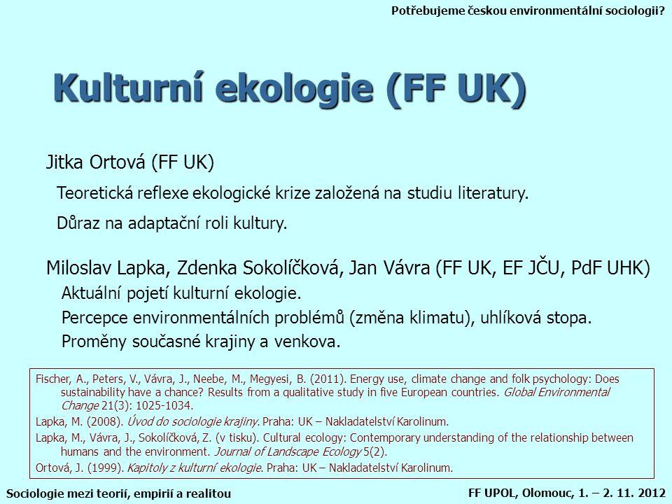 Kulturní ekologie (FF UK)