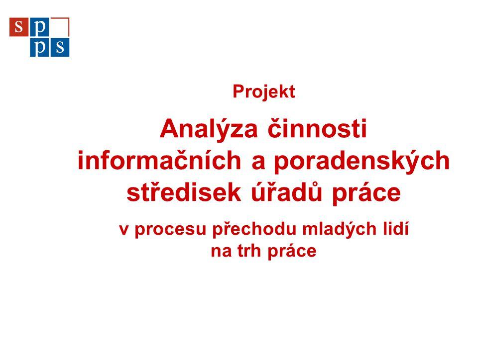 Projekt Analýza činnosti informačních a poradenských středisek úřadů práce v procesu přechodu mladých lidí na trh práce
