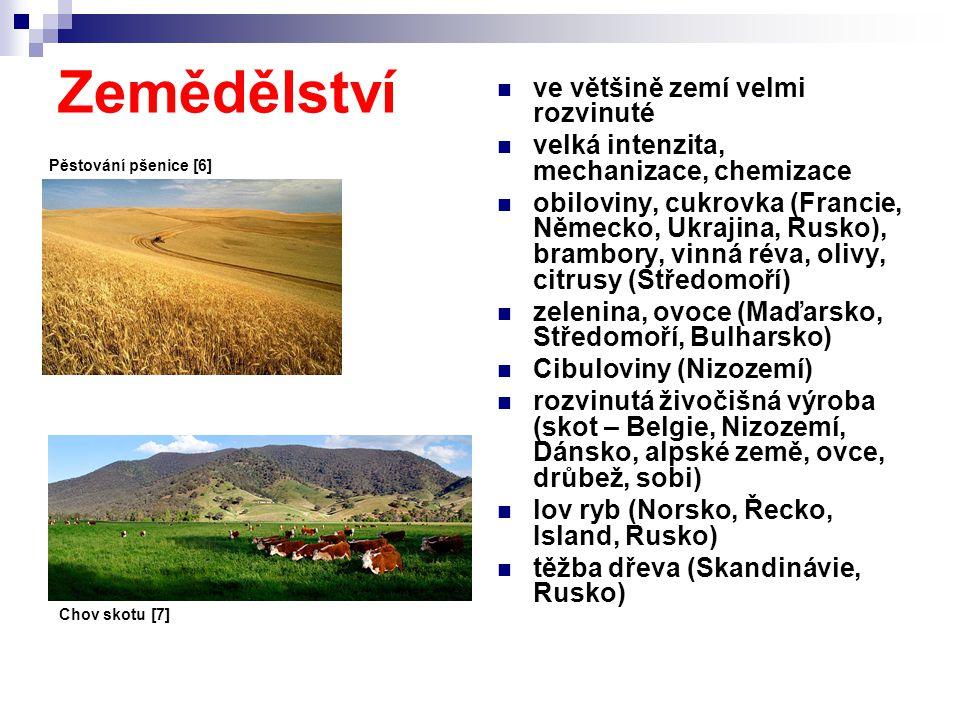 Zemědělství ve většině zemí velmi rozvinuté