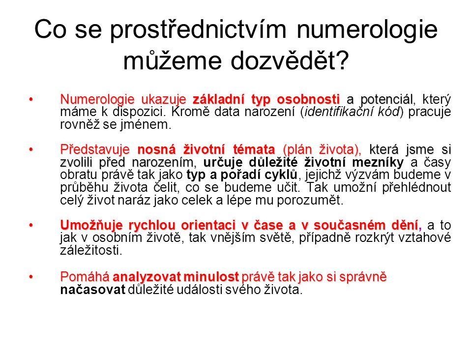 Co se prostřednictvím numerologie můžeme dozvědět