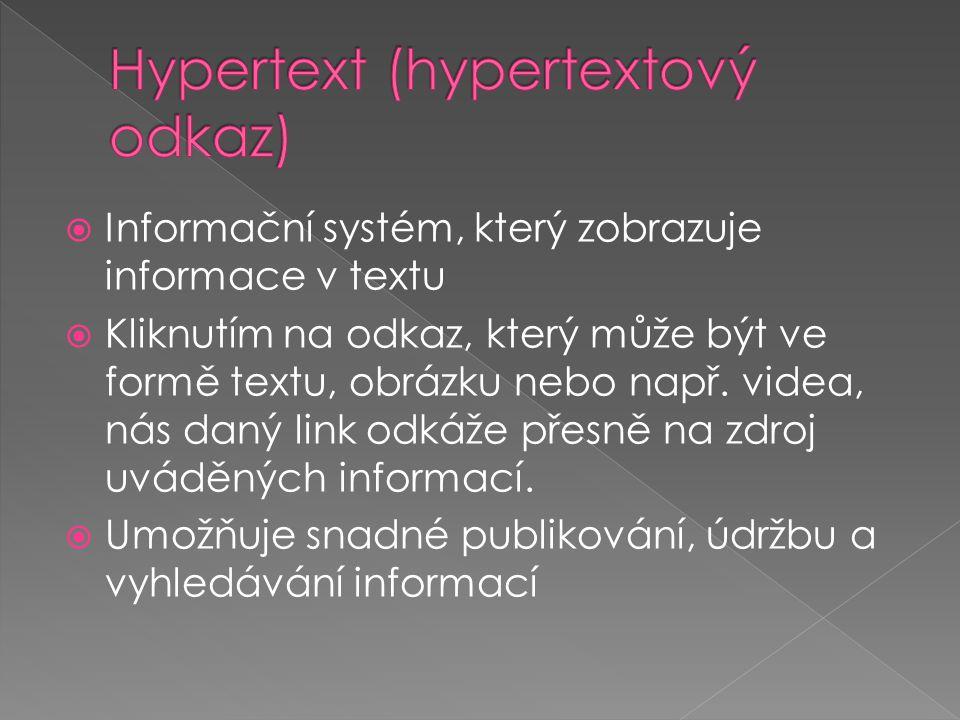 Hypertext (hypertextový odkaz)