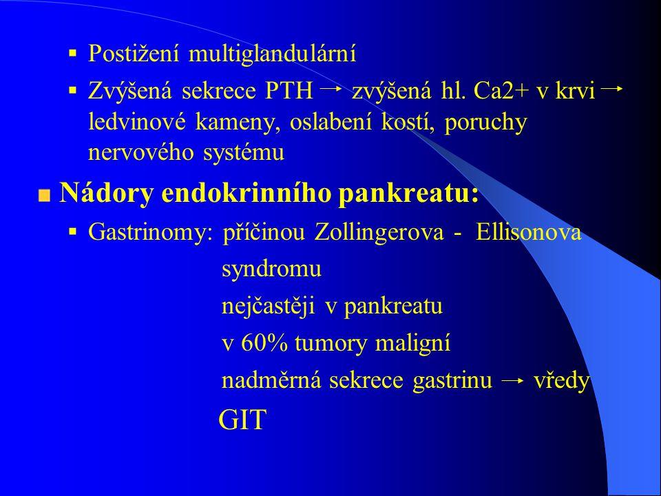 Nádory endokrinního pankreatu: