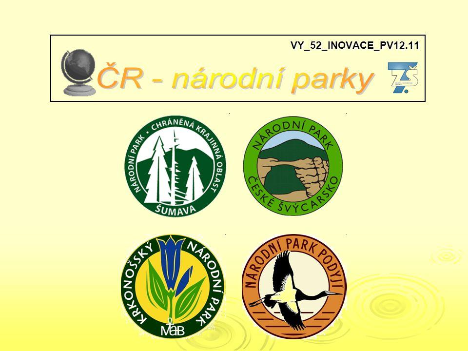 VY_52_INOVACE_PV12.11 ČR - národní parky