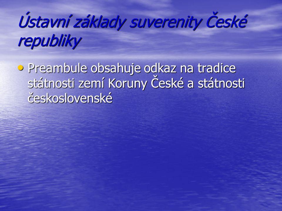 Ústavní základy suverenity České republiky