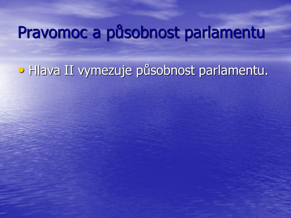 Pravomoc a působnost parlamentu