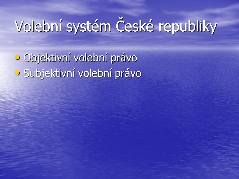 Volební systém České republiky
