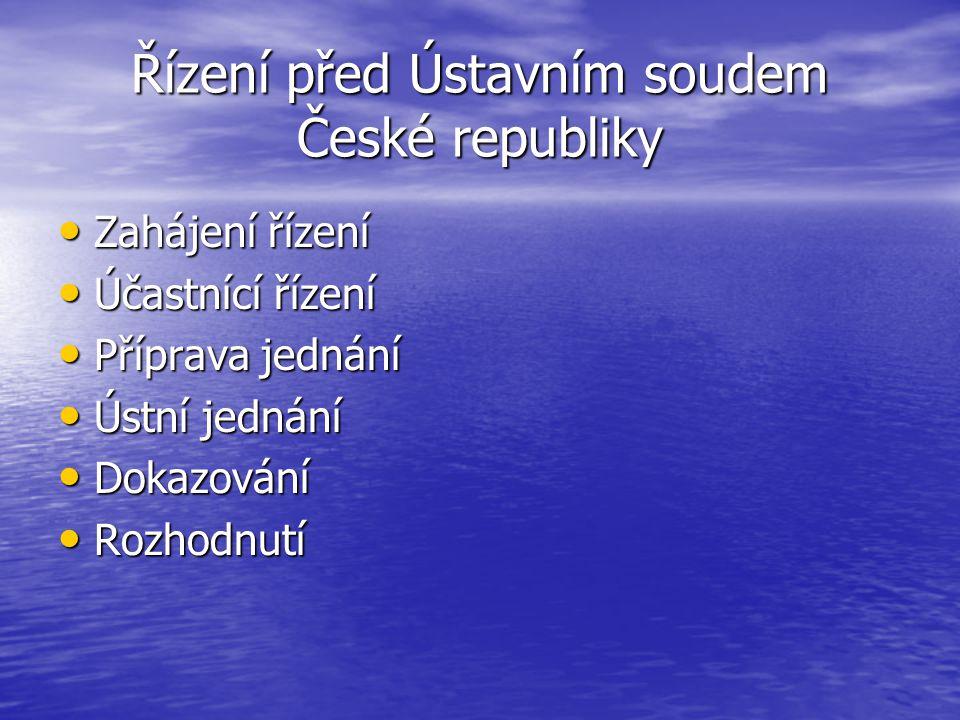 Řízení před Ústavním soudem České republiky