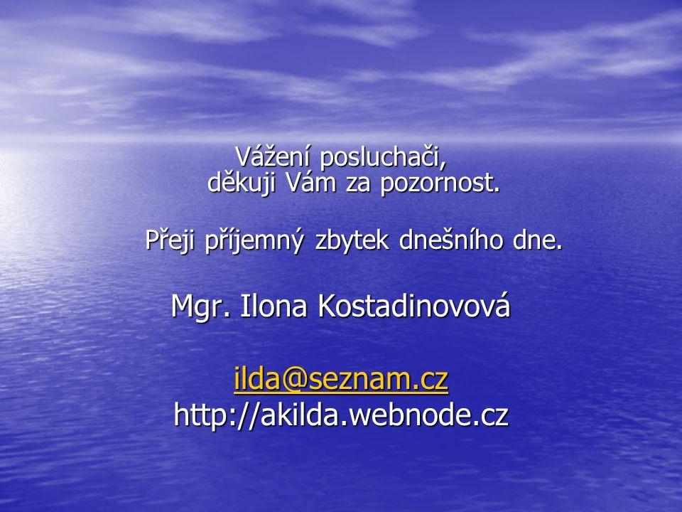 Mgr. Ilona Kostadinovová ilda@seznam.cz http://akilda.webnode.cz