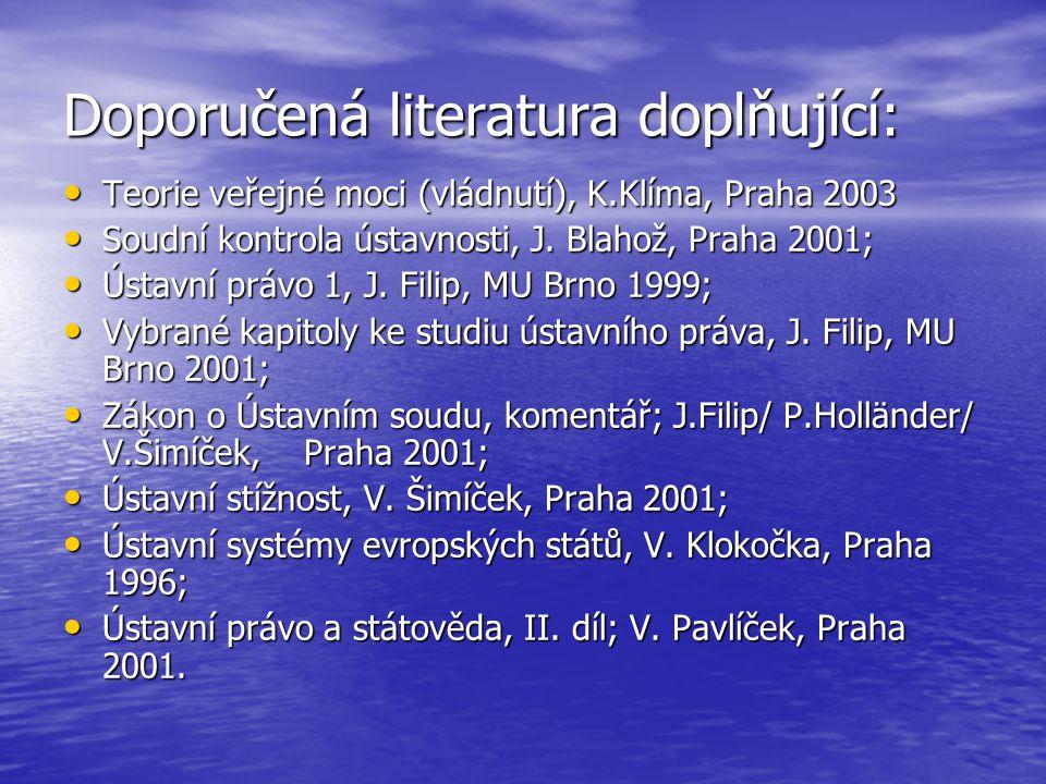 Doporučená literatura doplňující: