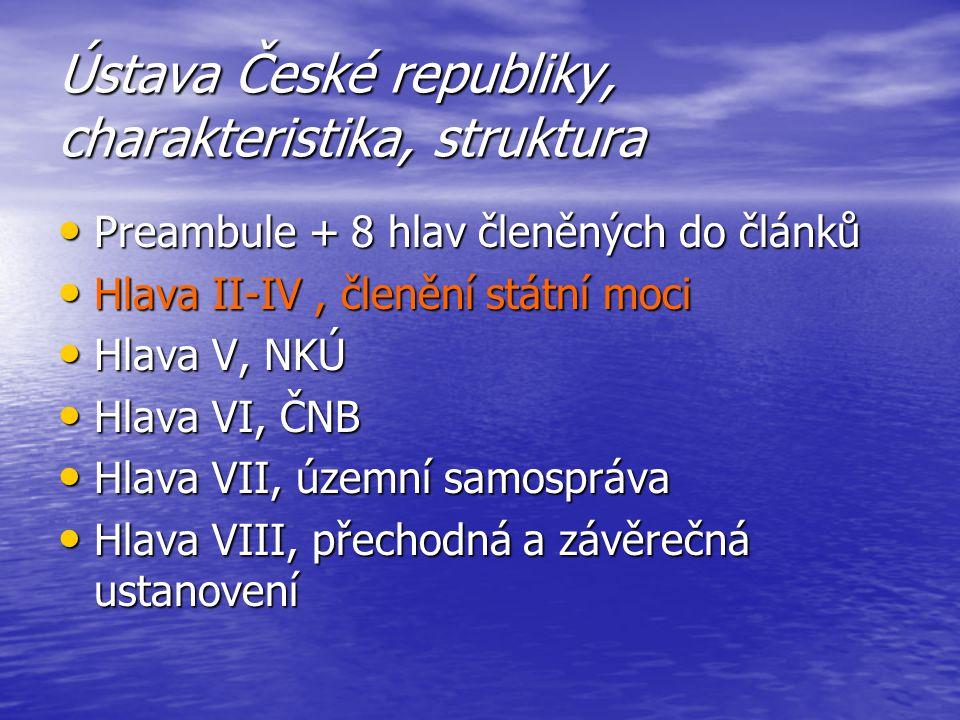 Ústava České republiky, charakteristika, struktura