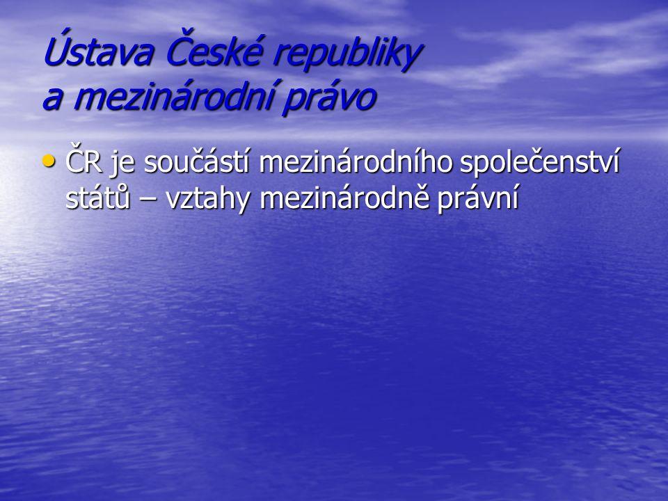Ústava České republiky a mezinárodní právo