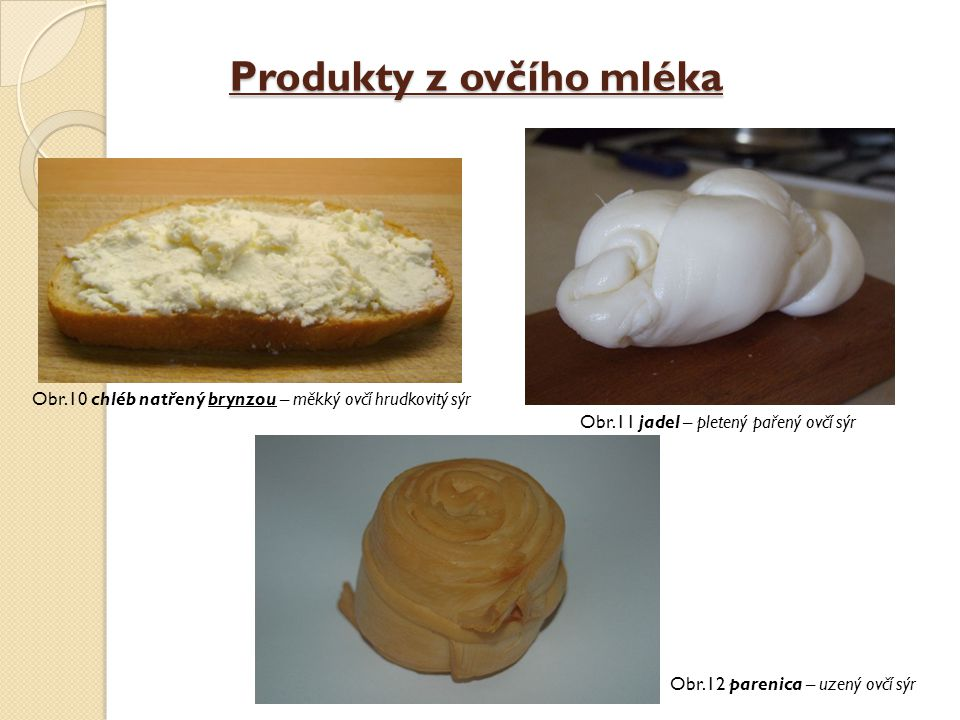Produkty z ovčího mléka