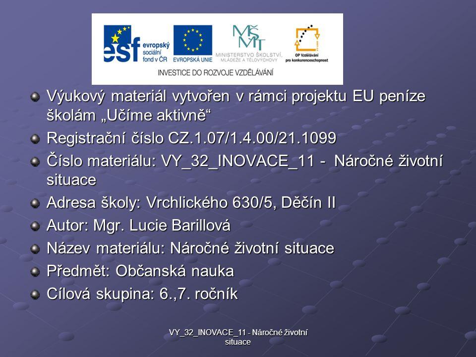 VY_32_INOVACE_11 - Náročné životní situace