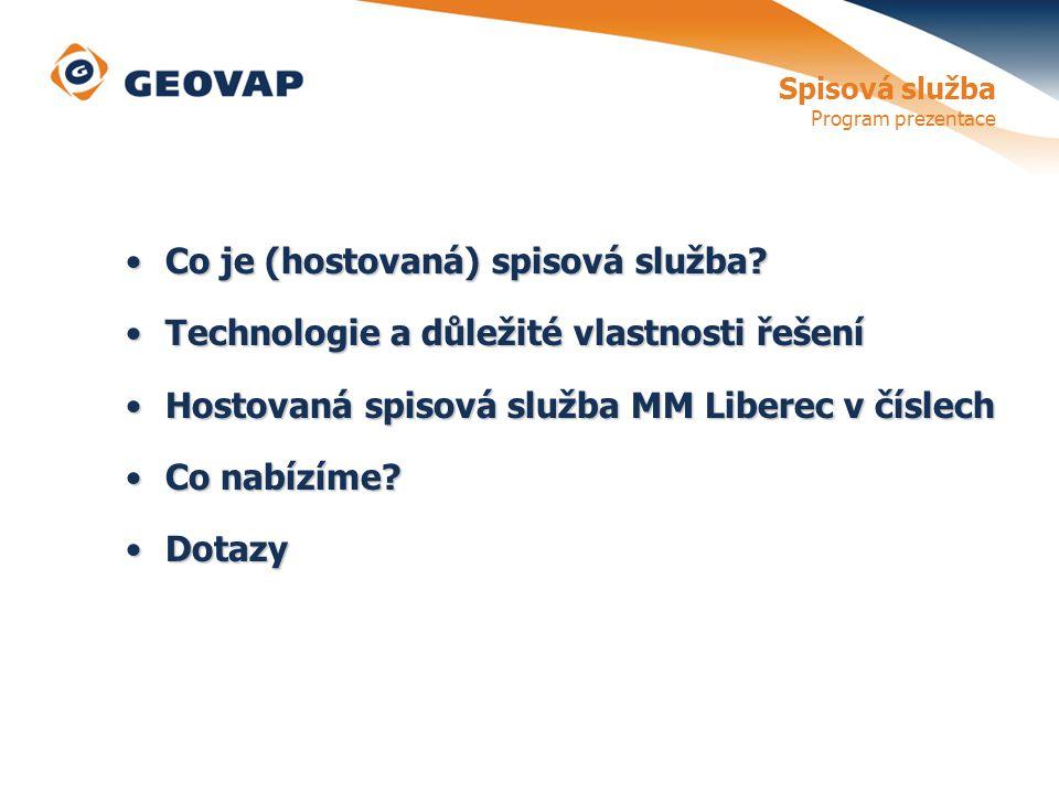 Spisová služba Program prezentace