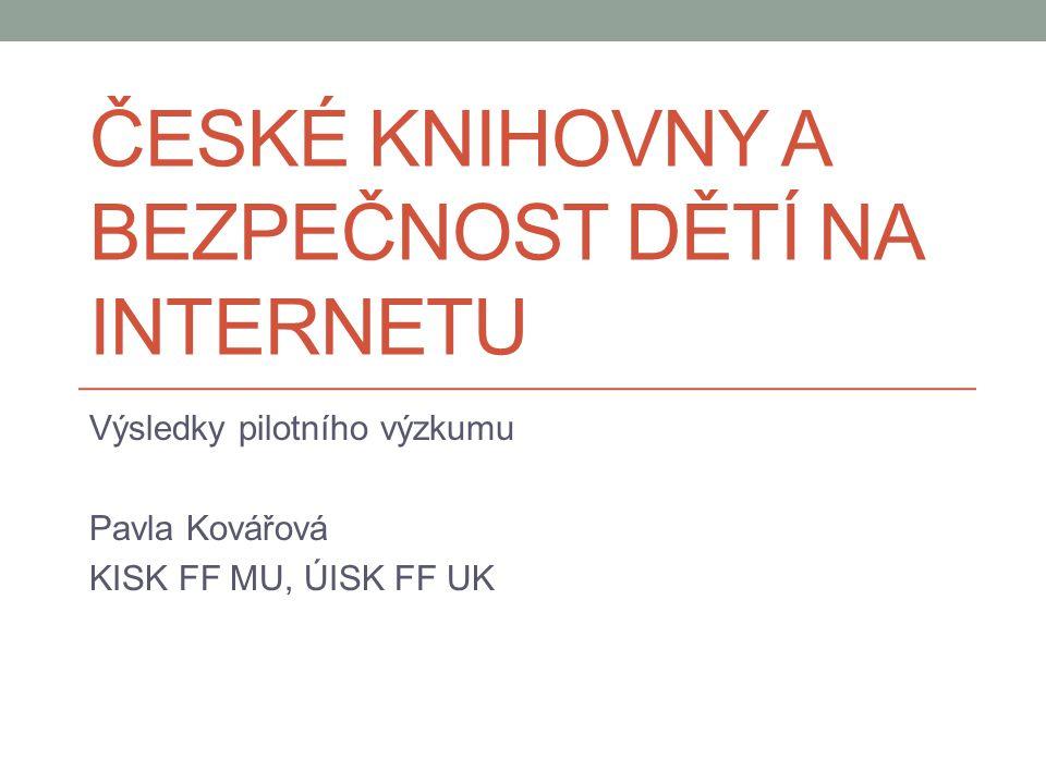 České knihovny a bezpečnost dětí na internetu