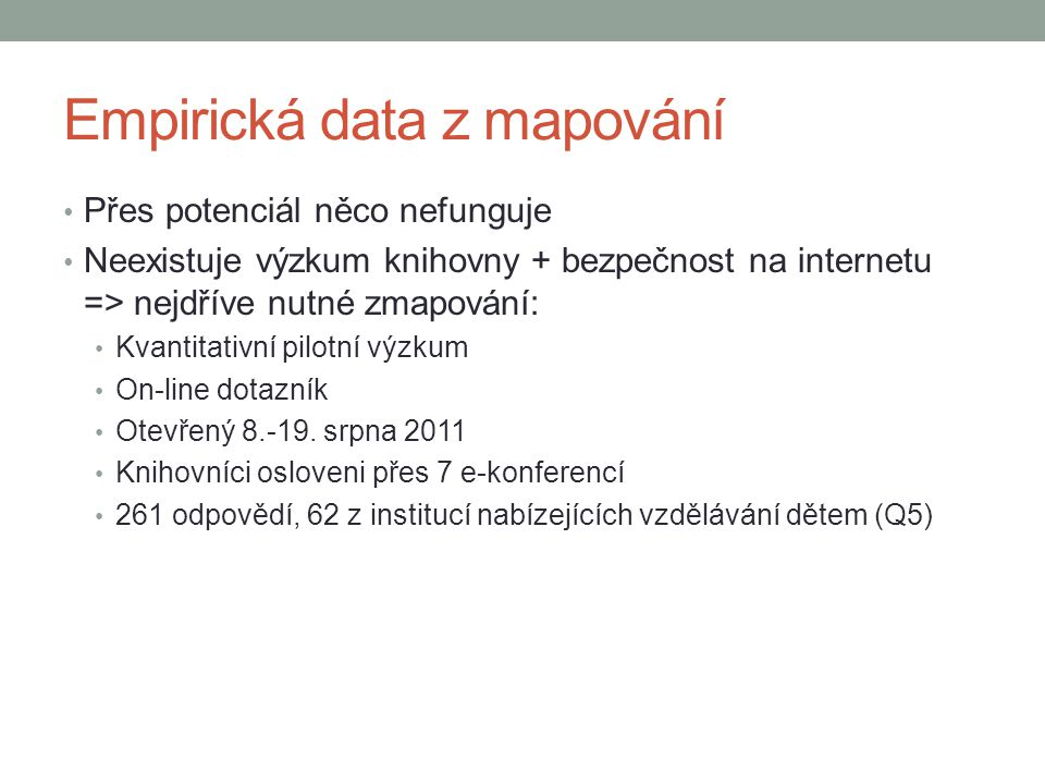 Empirická data z mapování