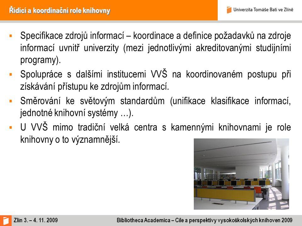 Řídící a koordinační role knihovny