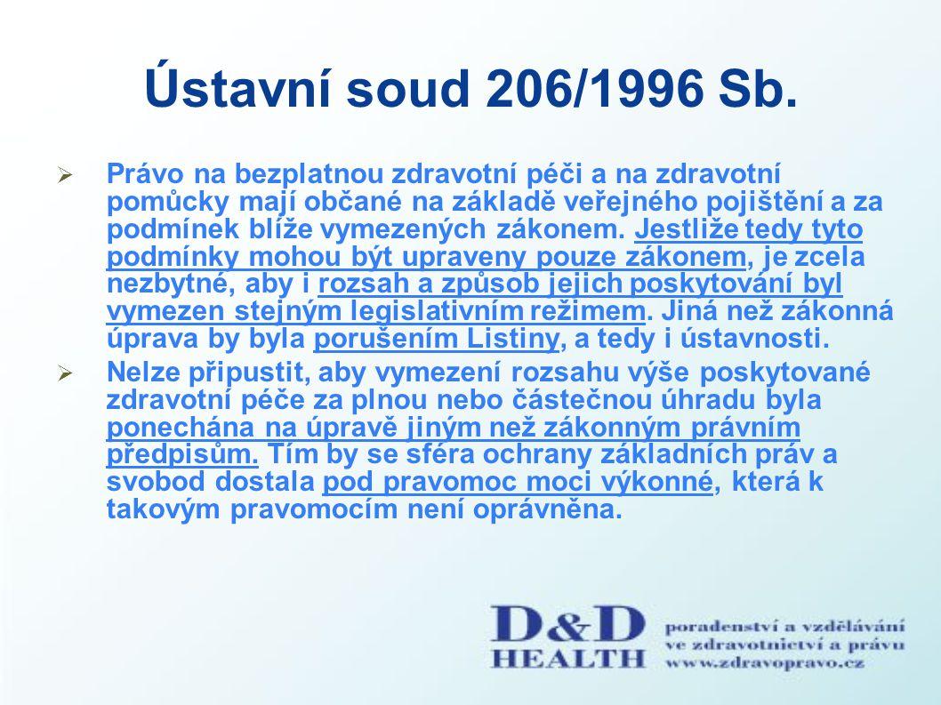 Ústavní soud 206/1996 Sb.