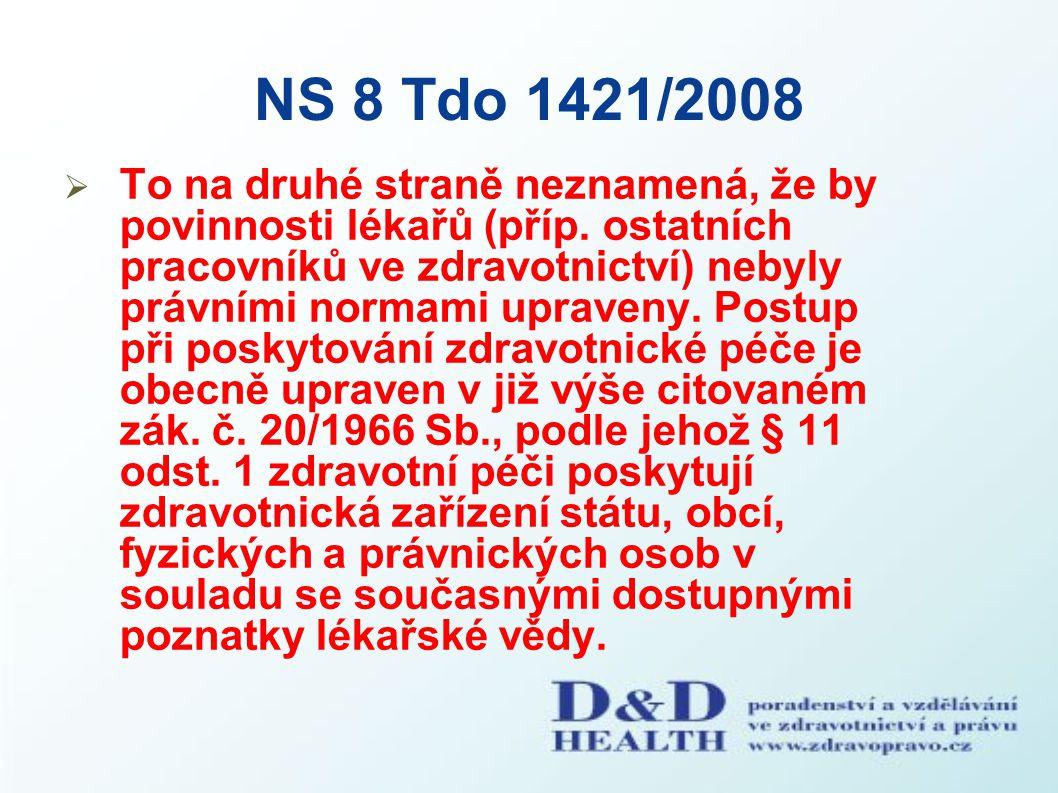 NS 8 Tdo 1421/2008